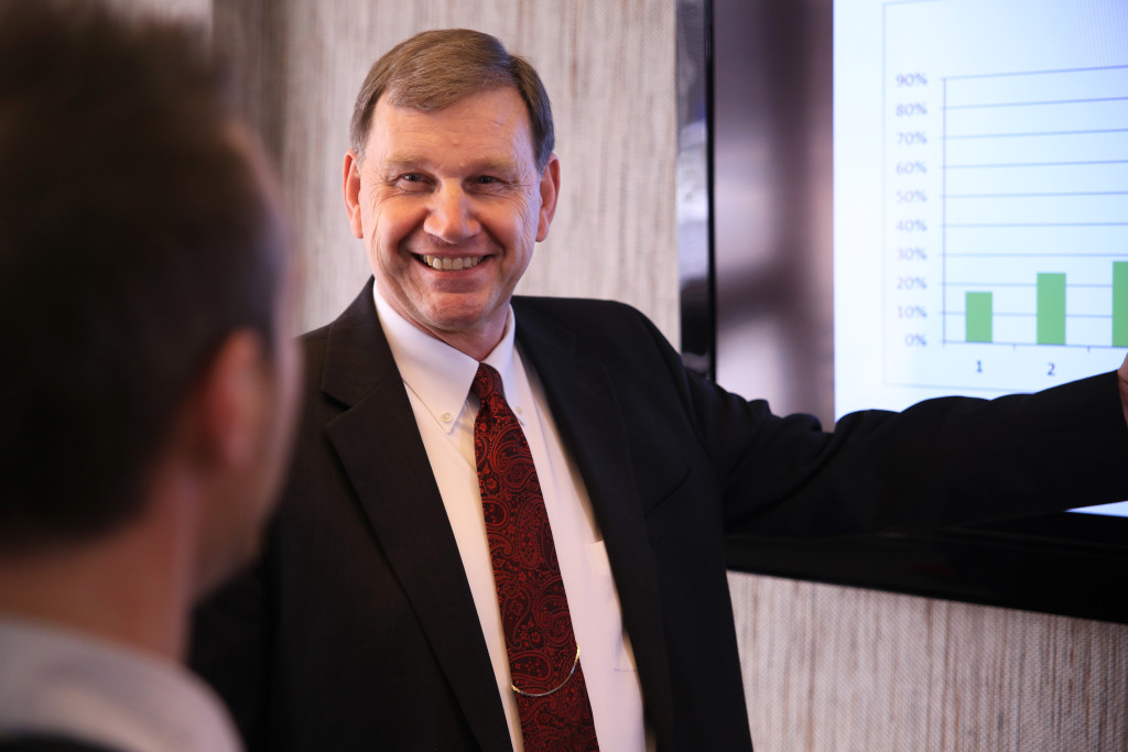 Steve pointing to budget projections