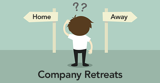 Businessman must choose between two directions - home or away