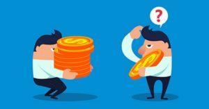 Comparison of wage income of businessmen
